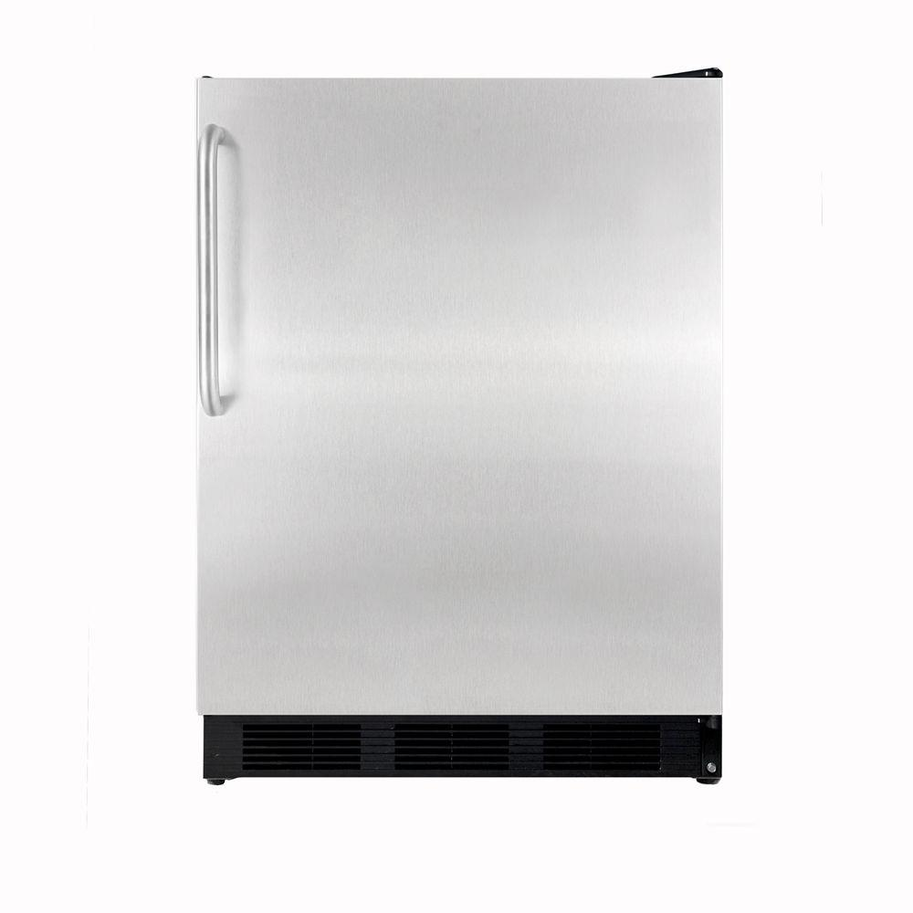 Summit Appliance 5.5 cu. ft. Mini Refrigerator in Stainless Steel