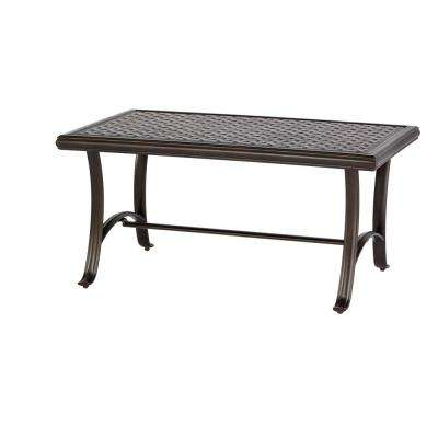 Ridge Falls 1-Piece Aluminum Outdoor Cast Top Coffee Table