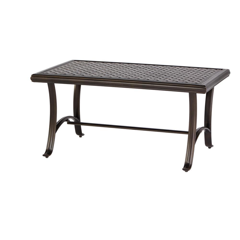 Ridge Falls 1-Piece Aluminum Outdoor Cast Top Coffee Table