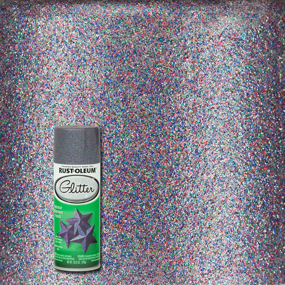 10.25 oz. Purple Glitter Spray Paint