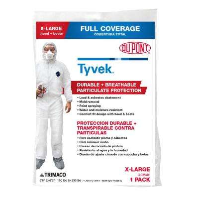 DuPont Tyvek XL Painters Coverall with Hood & Boots