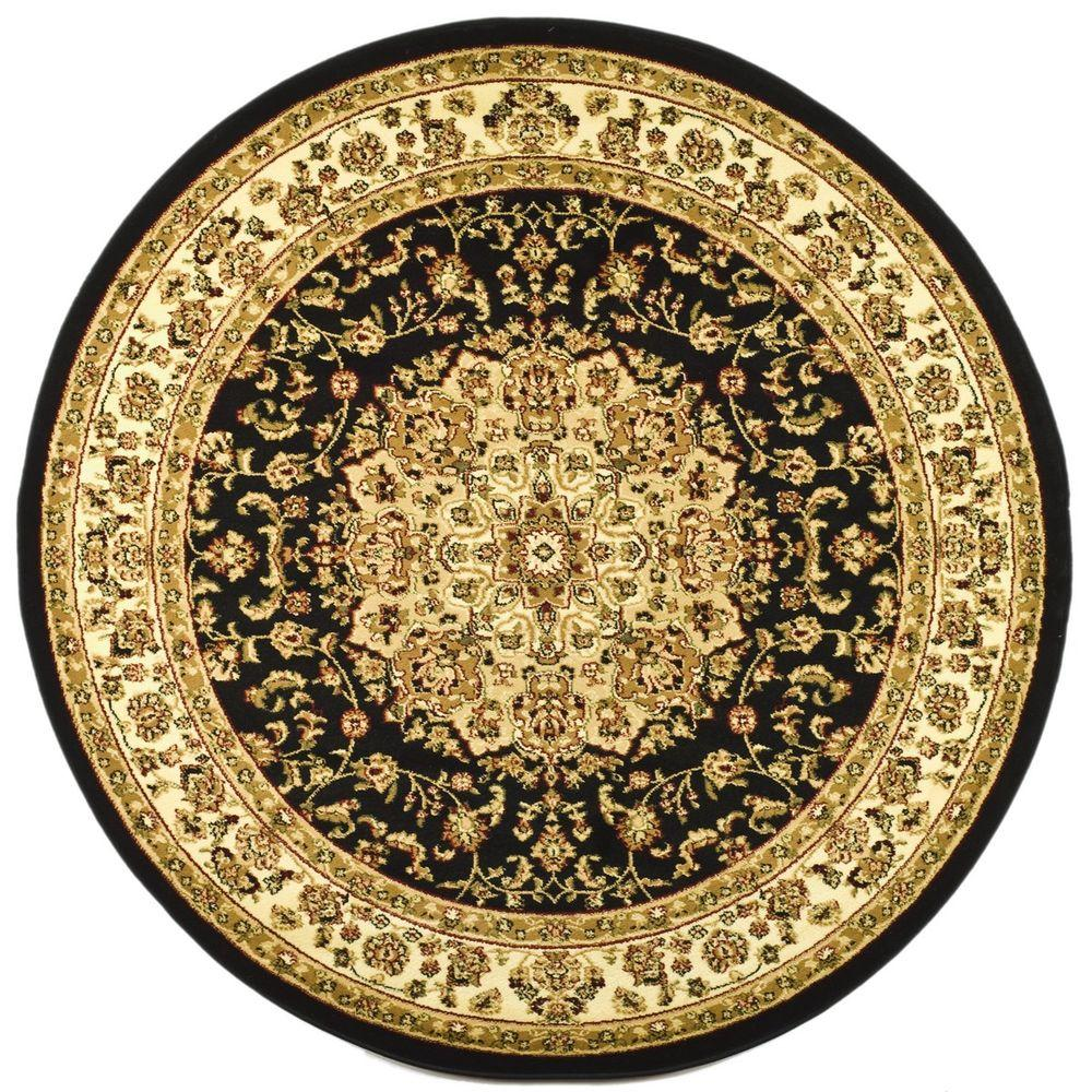 This Review Is From:Lyndhurst Black/Ivory 5 Ft. 3 In. X 5 Ft. 3 In. Round  Area Rug