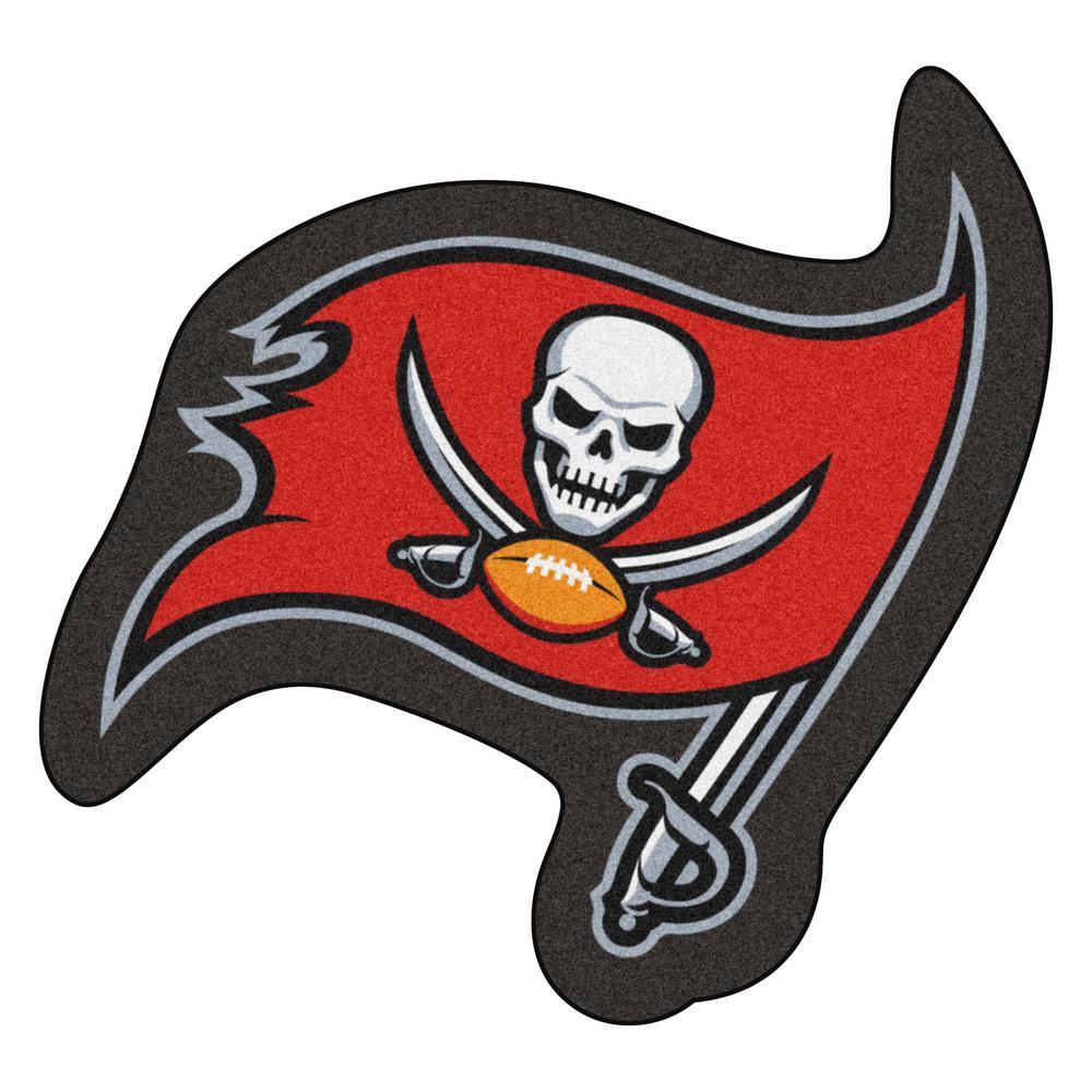 edbaf5fc FANMATS NFL - Tampa Bay Buccaneers Mascot Mat 36 in. x 34 in. Indoor Area  Rug