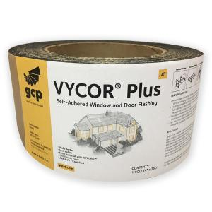 Gcp Applied Technologies Vycor Plus 4 In X 75 Ft Roll Fully Adhered Flashing Tape 25 Sq Ft 5003100 The Home Depot