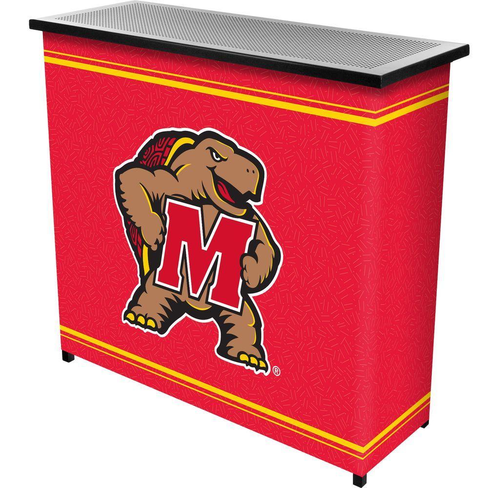 Maryland University 2-Shelf Black Bar with Case