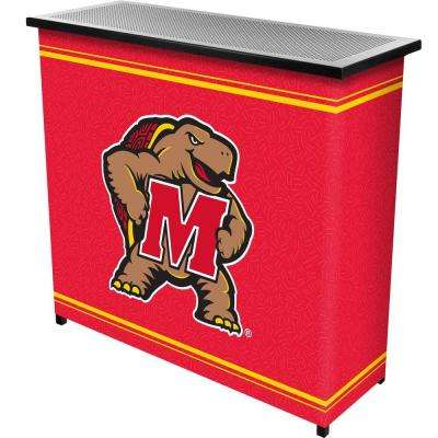 Maryland University 2-Shelf Black Bar with Case