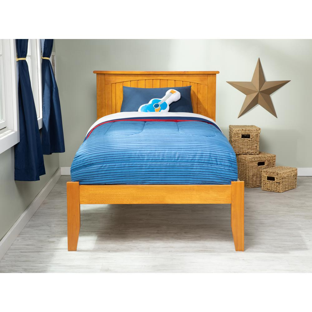 Atlantic Furniture Nantucket Caramel Twin Xl Platform Bed With Open Foot Board Ar8211007 The Home Depot