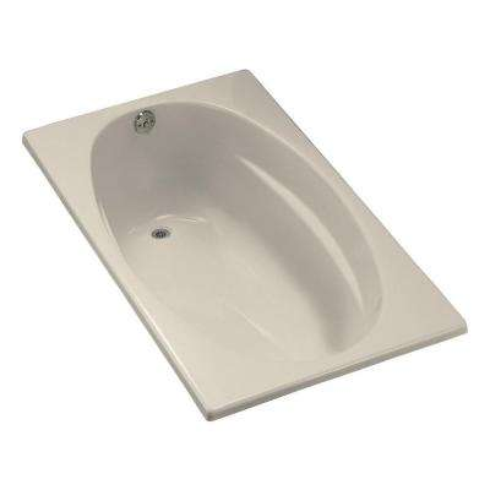 Proflex 5 ft. Reversible Drain Bathtub in Almond