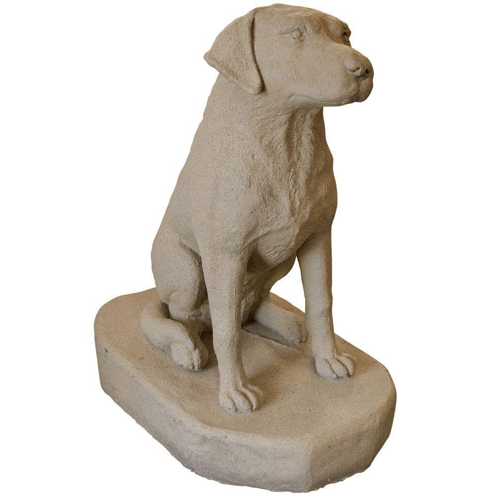 Charmant Sandstone Resin Labrador Statue