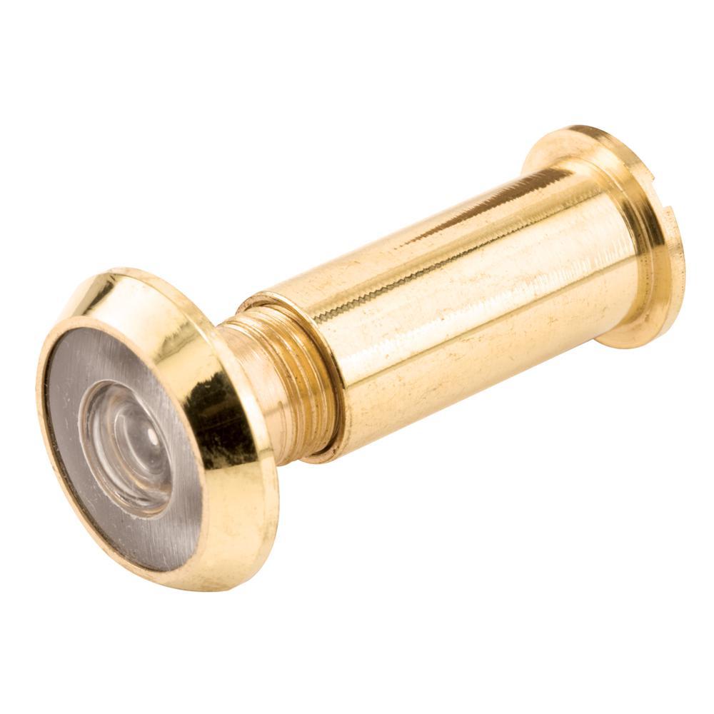 9/16 in. Bore 180-Degree Solid Brass Door Viewer