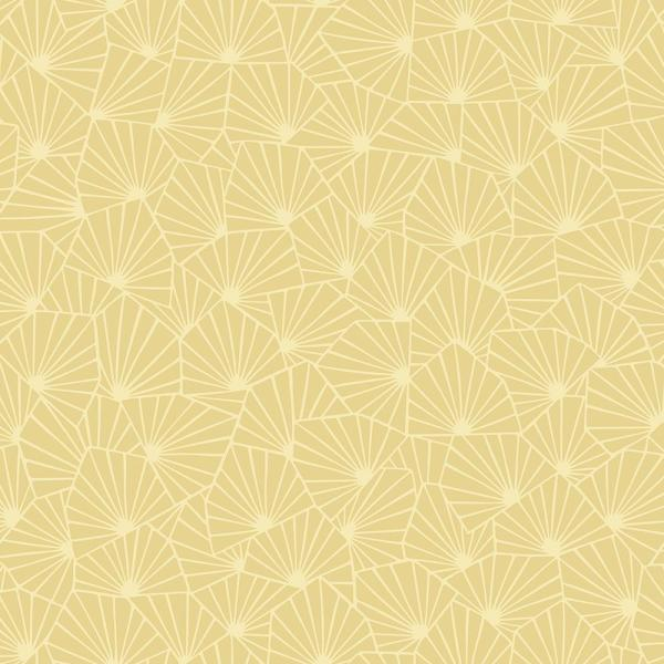 57.8 sq. ft. Blomma Yellow Geometric Wallpaper WV1466