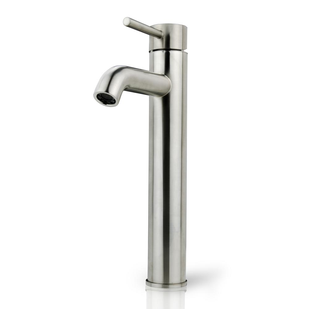 Ispring Single Hole Handle Vessel Bathroom Faucet With Ceramic Disc Cartridge In Brushed Nickel