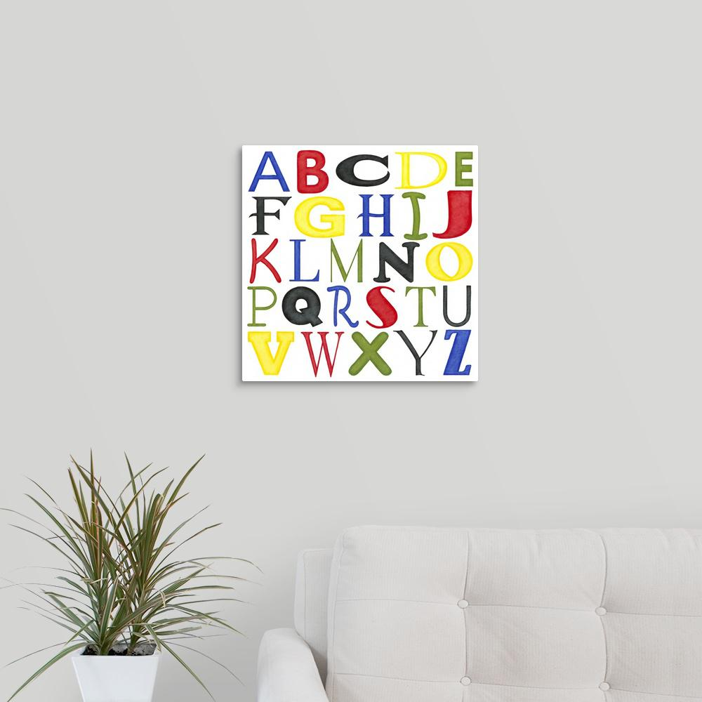 """Kid's Room Letters"" by Megan Meagher Canvas Wall Art"