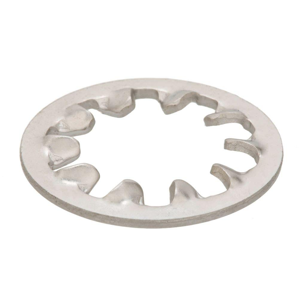 Everbilt 1/4 in. Zinc-Plated Steel Internal Tooth Lock Washers (18-Pack)