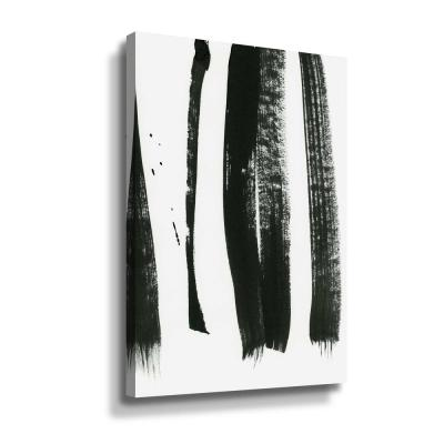 'Black on white 3' by  Iris Lehnhardt Canvas Wall Art
