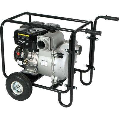 Pro-Series 3 in. 9 HP Gas-Powered Utility Water Pump with Wheel Kit