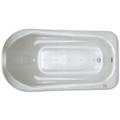 6 ft. Left Drain Drop-in Rectangular Whirlpool and Air Bath Tub in White