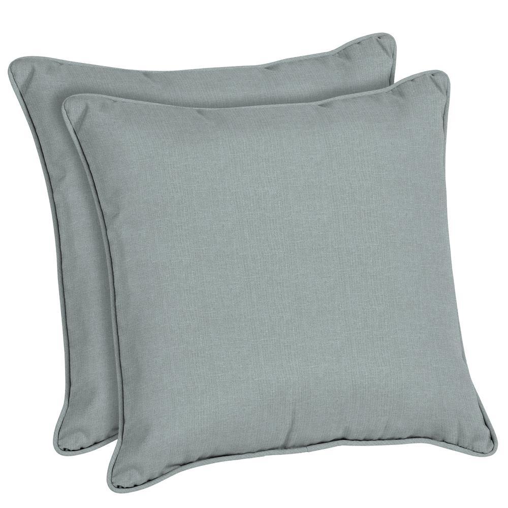 Sunbrella Cast Mist Square Outdoor Throw Pillow (2-Pack)