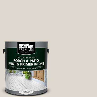 1 gal. #PFC-72 White Cloud Low-Lustre Interior/Exterior Paint and Primer In One Porch and Patio Floor Paint