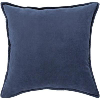 Velizh Navy Solid Polyester 20 in. x 20 in. Throw Pillow