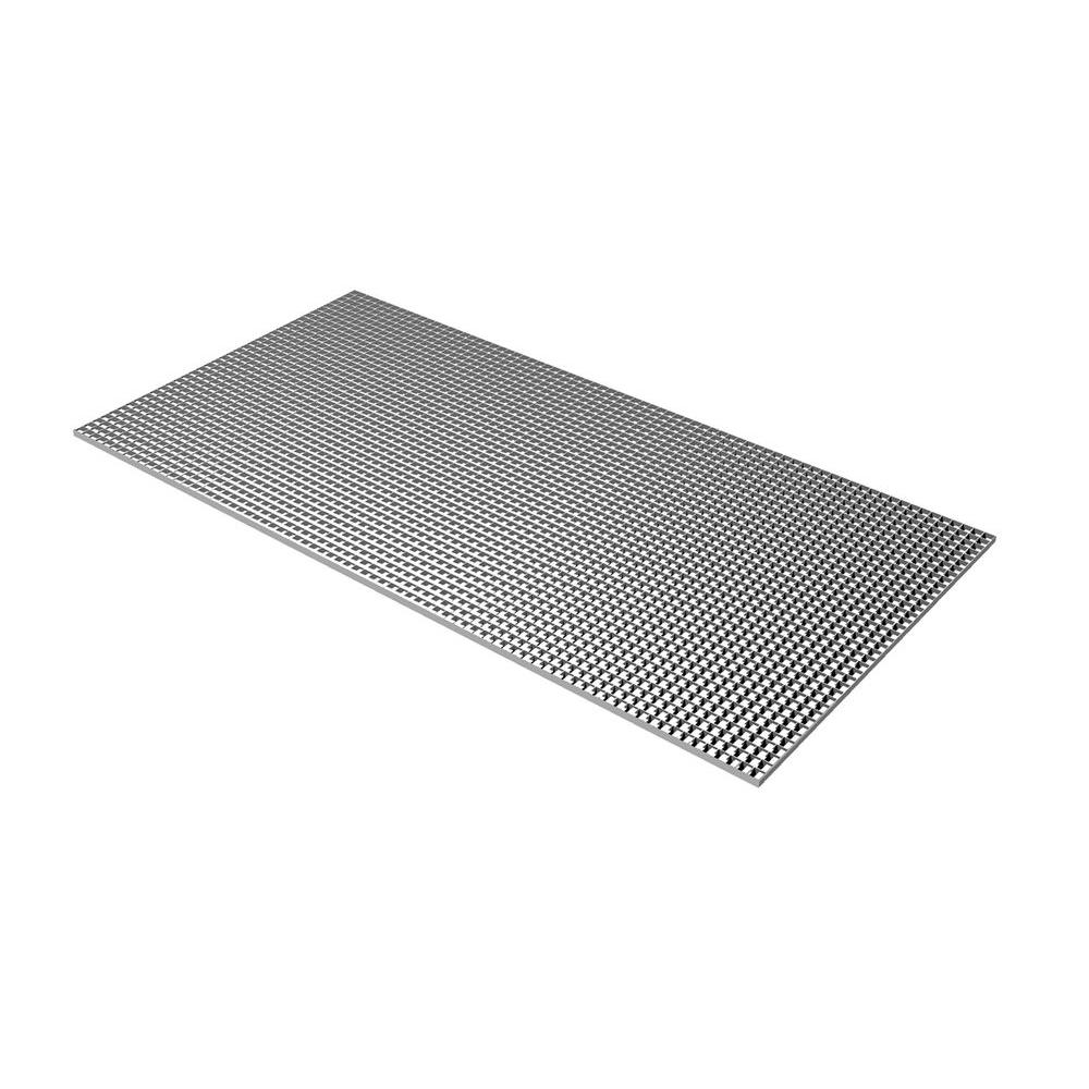 Plaskolite Egg Crate Silver Louver 1199238a The Home Depot
