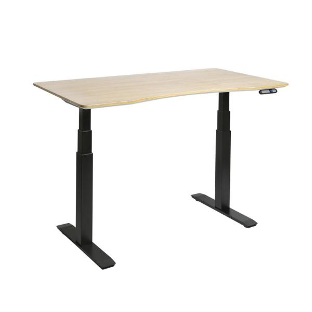 Seville Classics AIRLIFT Black/Birch S3 Electric Standing Desk Frame /w 54