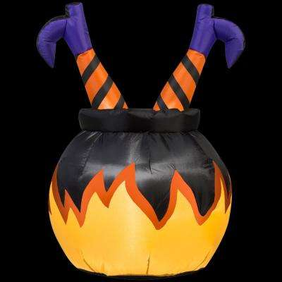2 ft. W x 3 ft. H Witch Legs Inflatable in the Cauldron