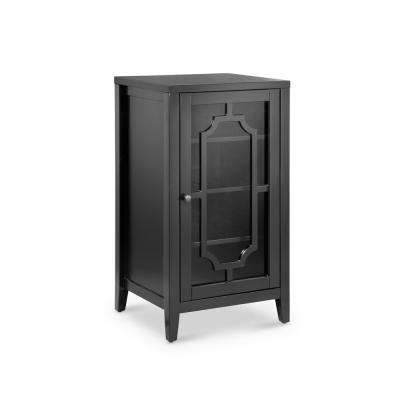 Fina 8-Bottle Accent/Wine Cabinet in Black