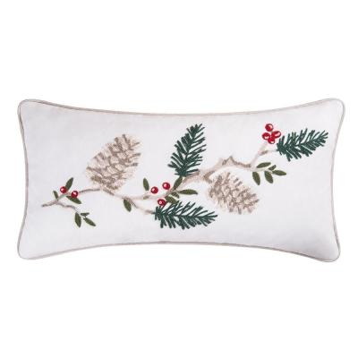 Natural Pines White Pillow 12 in. x 24 in.