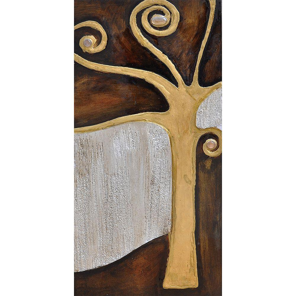 Yosemite Home Decor 14 in. x 28 in. Tree If Life I Hand Painted Contemporary Artwork-DISCONTINUED