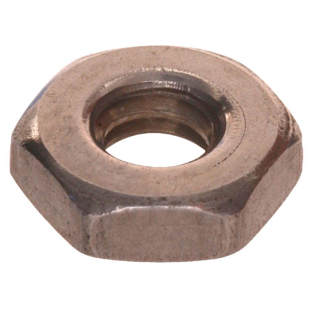 "7/16""-20 Stainless Steel Jam Nut (10-Pack)"