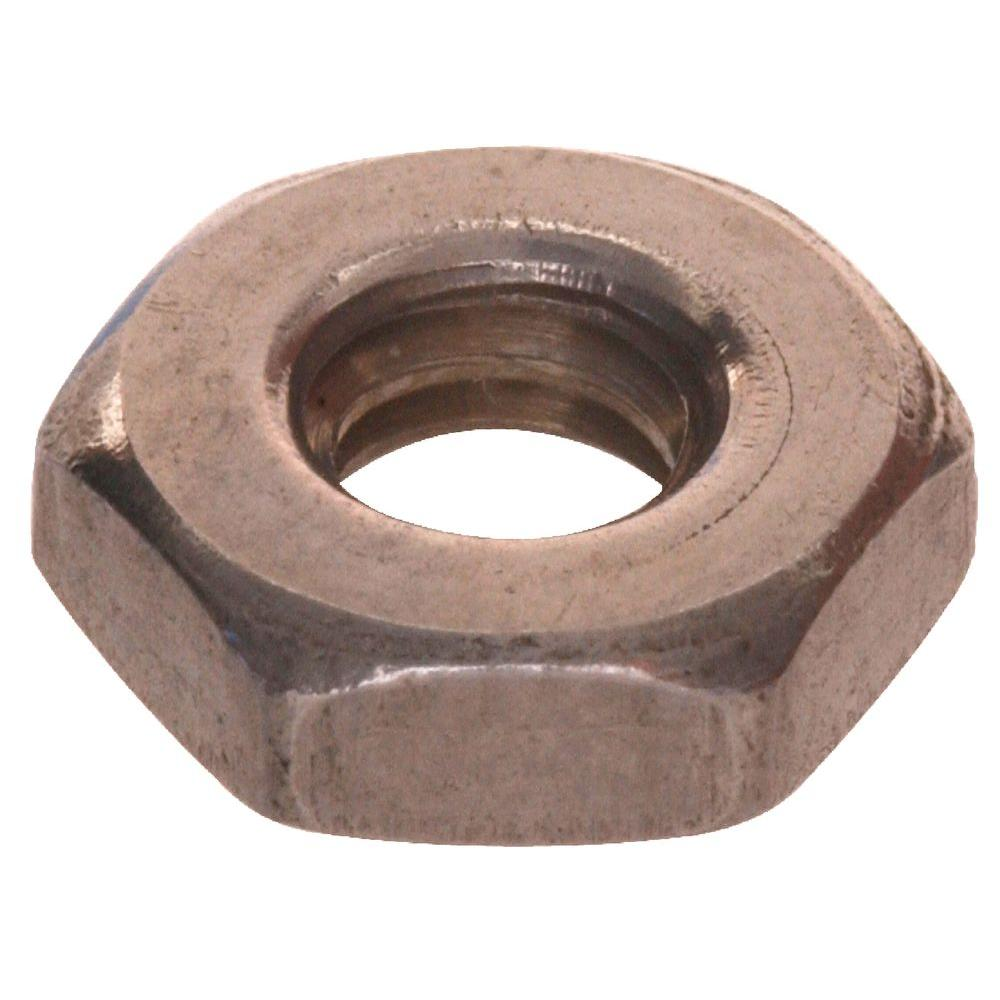 The Hillman Group 9/16 - 18 in. Stainless Steel Jam Nut (6-Pack)