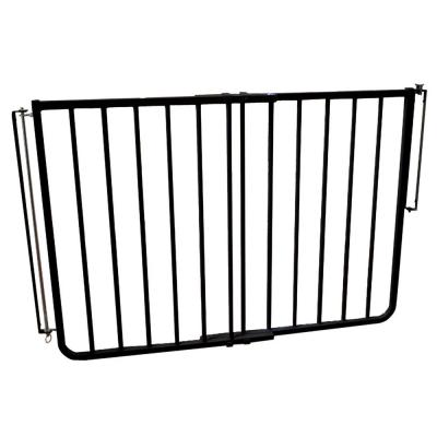 30 in. H x 27 in. to 42.5 in. W x 2 in. D Stairway Special Outdoor Safety Gate in Black