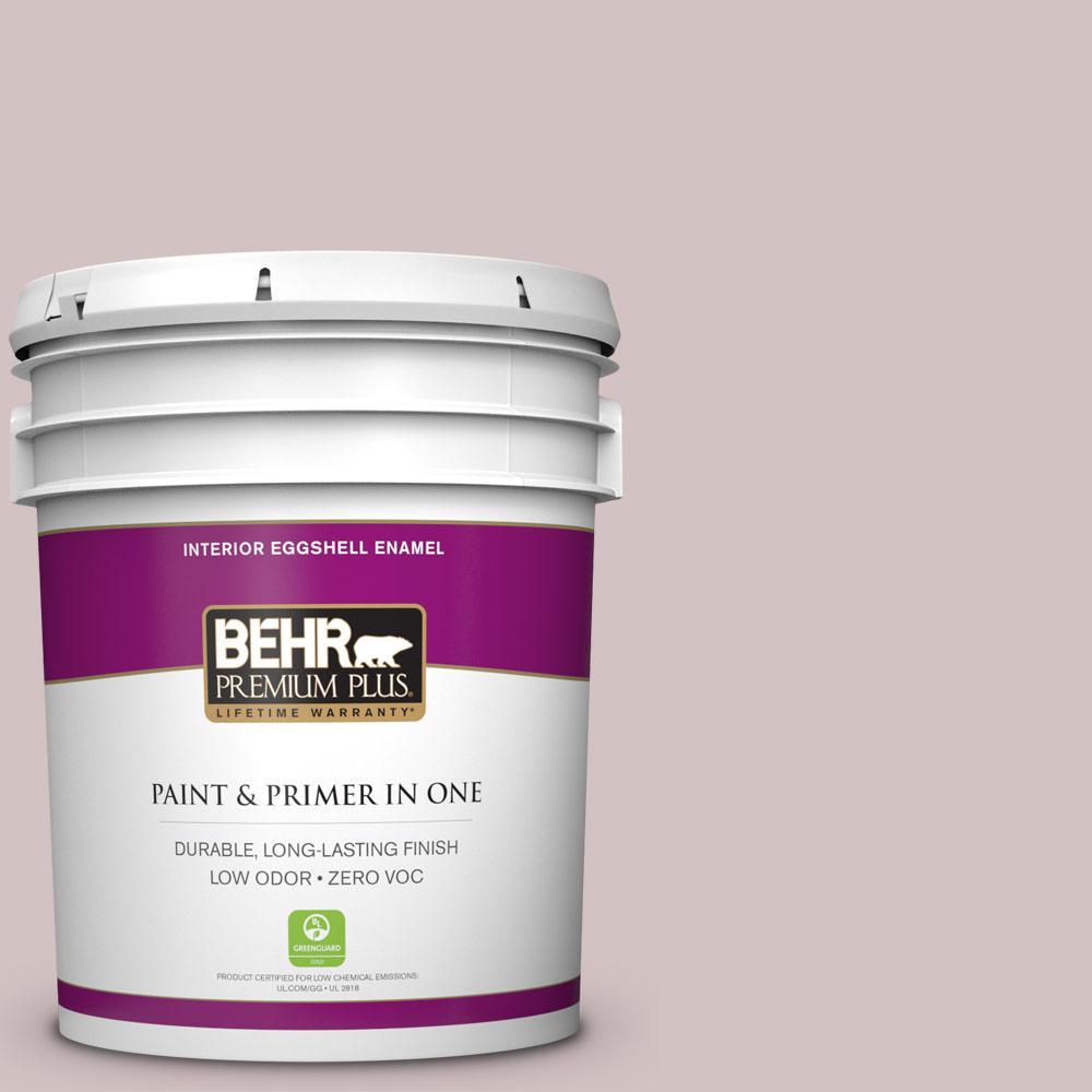 BEHR Premium Plus 5-gal. #120E-2 French Taupe Zero VOC Eggshell Enamel Interior Paint