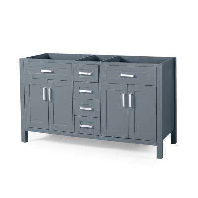 Greysen 60 in. W x 22 in. D Bath Vanity Cabinet Only in Grey