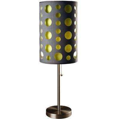 33 in. Greyand Green Stainless Steel High Modern Retro Table Lamp