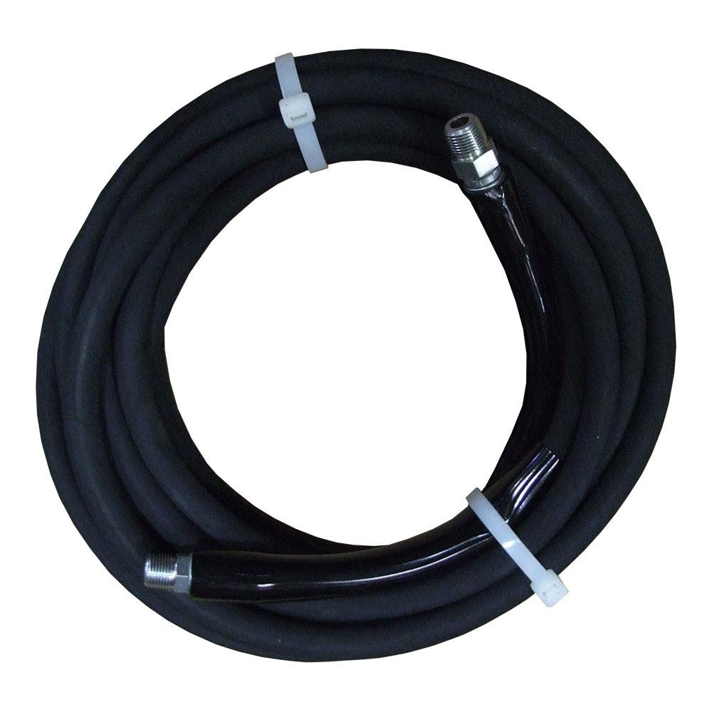 JGB 3/8 in. x 25 ft. Black Pressure Washer Hose Rated 4000 PSI