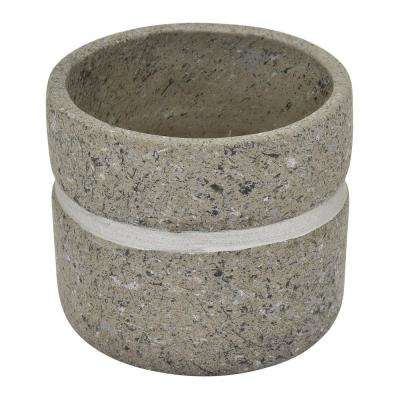 5.5 in. Terra Cotta Flower Pot in Gray