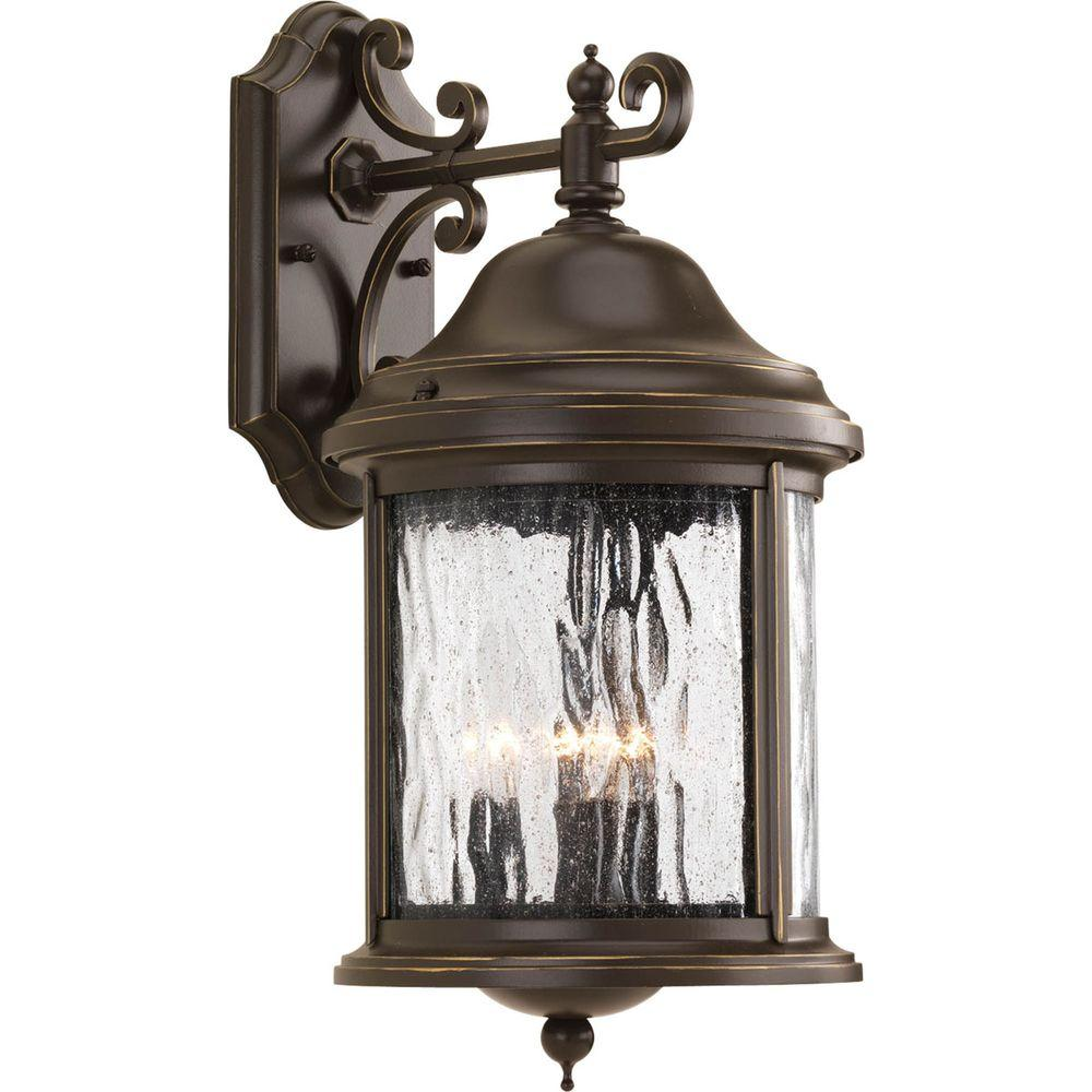 Progress Lighting Ashmore Collection 3-Light Outdoor Antique Bronze Wall Lantern