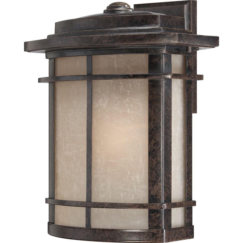 Filament Design Monroe 1-Light Imperial Bronze Outdoor Incandescent Wall Lantern