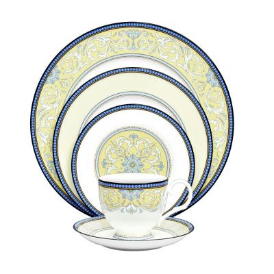 Menorca Palace 5-Piece Bone China Dinnerware Set