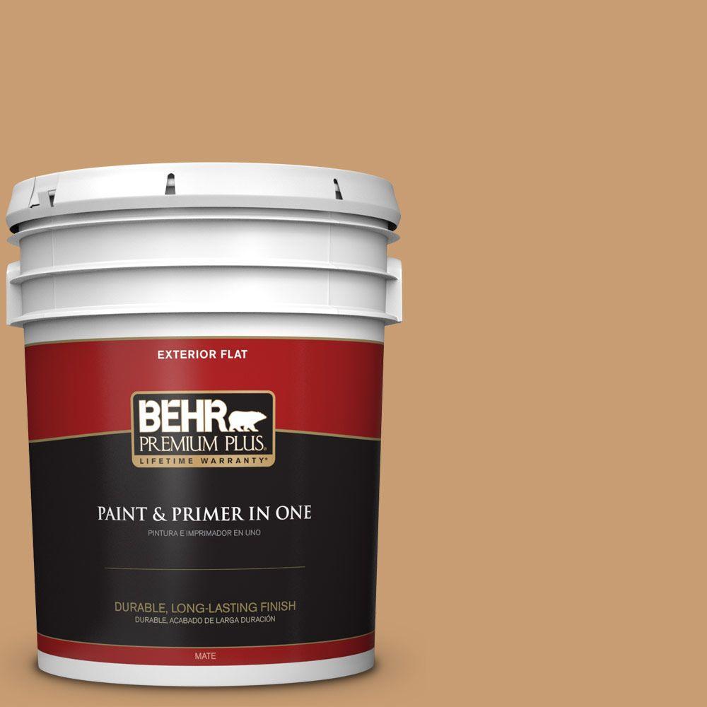 BEHR Premium Plus 5-gal. #S270-5 Gingersnap Flat Exterior Paint