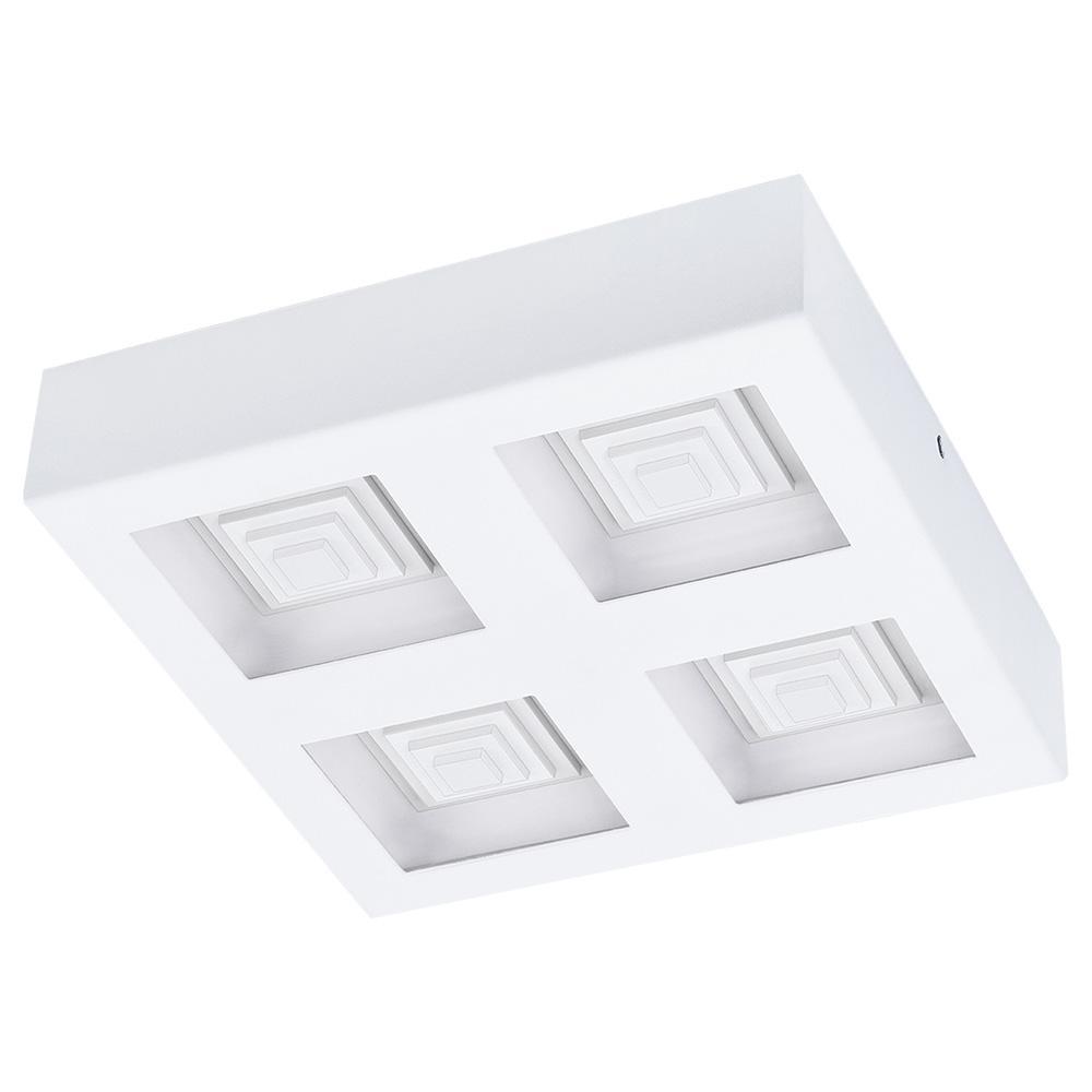 Ferreros 100-Watt White Integrated LED Semi-Flush Mount