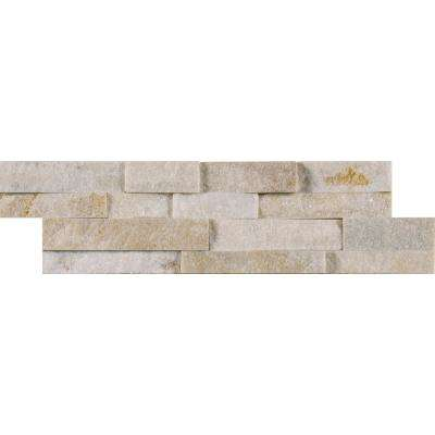 Arctic Golden Mini Ledger Panel 4.5 in. x 16 in. Natural Quartzite Wall Tile (5 sq. ft. / case)