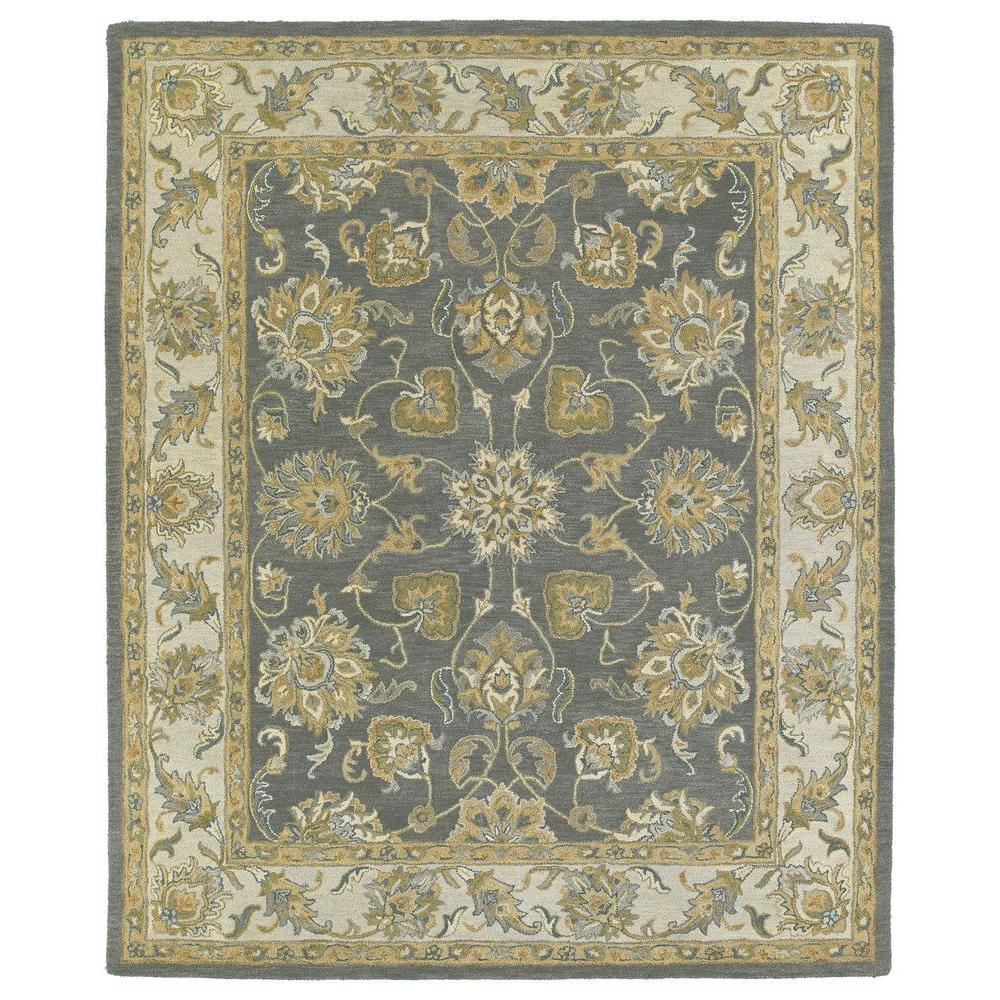 Kaleen Solomon Ezekial Pewter 8 ft. x 10 ft. Area Rug