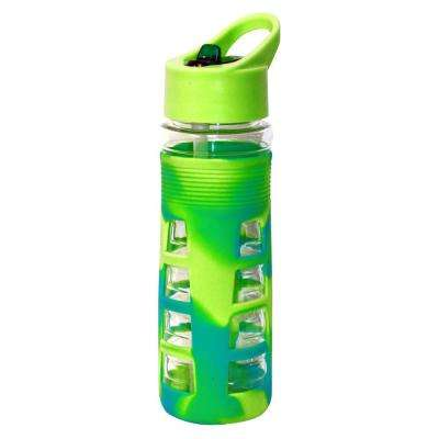 25 oz. Blue and Green Plastic Tritan Hydration Bottle (6-Pack)