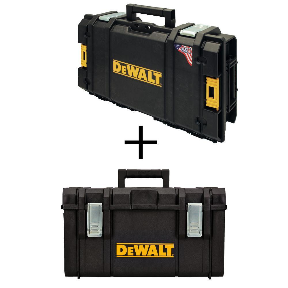 DEWALT ToughSystem DS130 22 in. Tool Box with Bonus ToughSystem DS300 22 in. Large Tool Box, Black was $79.84 now $54.97 (31.0% off)