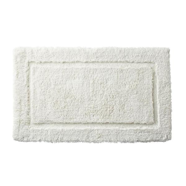 Legends Pearl 50 in. x 30 in. Cotton Bath Rug