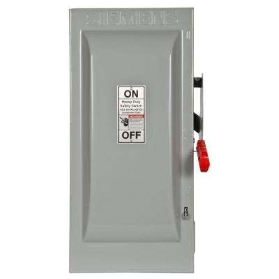 Heavy Duty 100 Amp 600-Volt 2-Pole Indoor Non-Fusible Safety Switch