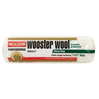 9 in. x 1/2 in. High Density Wool Roller Cover